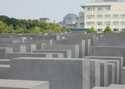 Holocaust Memorial and Reichstag cupola